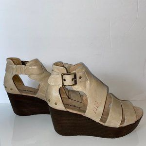 Cat by Caterpillar Wedge Sandals Leather Tan 9W